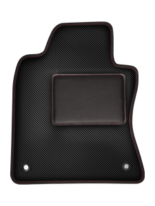 Quality Car Floor Mats - Carbon - Black