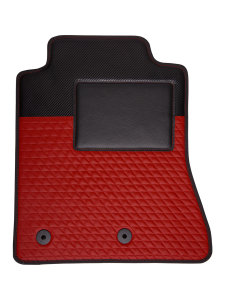 Quality Car Floor Mats - Racing - Red